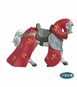 Papo <br />Draped Horse Red Figurine #39390