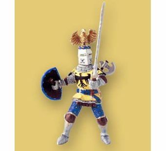 Papo <br />Knight with Crest Blue Figurine #39362