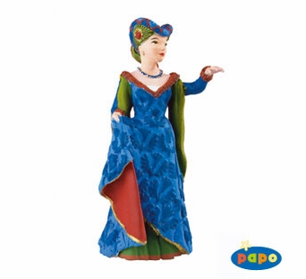 Papo <br />Medieval Fair Lady Blue Figurine #39393