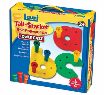 Patch Toys <br />Tall Stacker Lowercase A-Z Pegboard Set