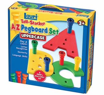 Patch Toys <br />Tall Stacker Uppercase A-Z Pegboard Set