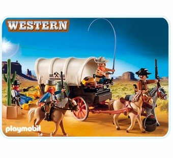 Playmobil <br />Covered Wagon with Raiders #5248