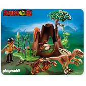 Playmobil <br />Deinonychus and Velociraptors #5233