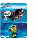 Playmobil <br />Dinghy with Diver #4910