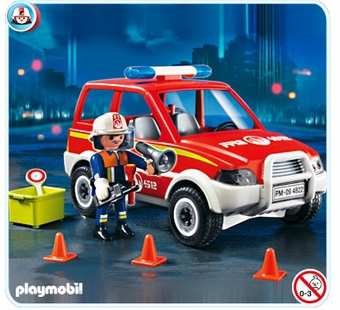 Playmobil <br />Fire Chief with Car #4822