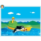 Playmobil <br />Fishing Boat with Whale #6739