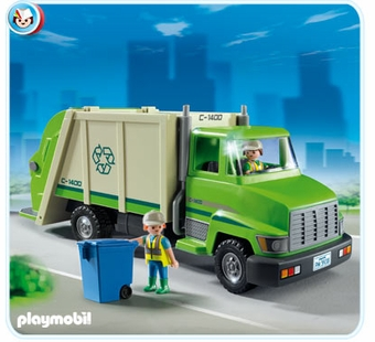 Playmobil <br />Green Recycling Truck #5938