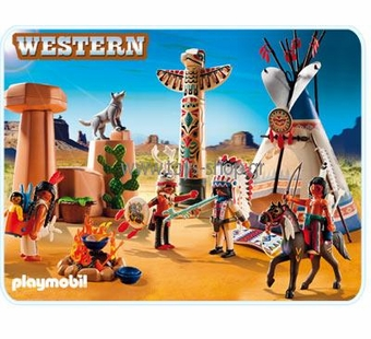 Playmobil <br />Native American Camp with Totem Pole #5247