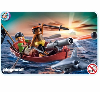 Playmobil <br />Pirates Rowboat with Shark #5137