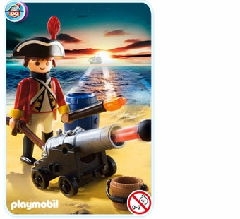 Playmobil <br />Redcoat Guard with Cannon #5141