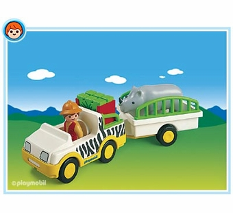 Playmobil <br />Safari Truck with Rhino #6743