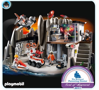 Playmobil <br />Secret Agent Headquarters with Alarm System #4875