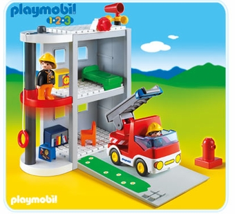 Playmobil <br />Take Along Fire Station #6777