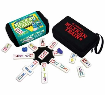 Puremco <br />Mexican Train Dominoes To Go Travel Set