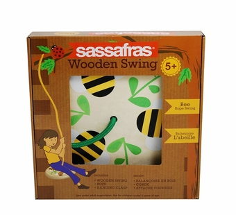 Sassafras Kids <br />Bee Wooden Tree Swing