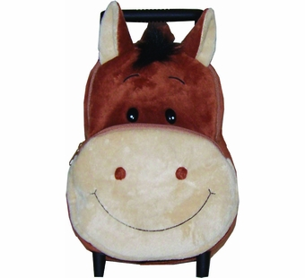 Sassafras Kids <br />Harriet the Horse Plush Pull-along Backpack