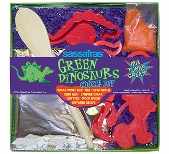 Sassafras Kids <br />Mini Green Dinosaur Cookie Kit