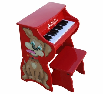 Schoenhut <br />25 Key Dog Piano with Bench