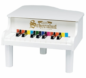 Schoenhut <br />Mini Grand White Piano 18-key