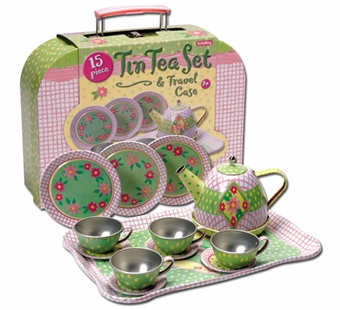 Schylling Toys <br />Tin Tea Set Travel Case