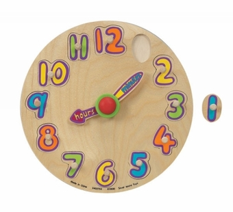 Small World Toys <br />Tick Tock Clock Wood Puzzle