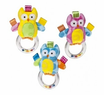 Taggies <br />Colours Owl Ring Rattle