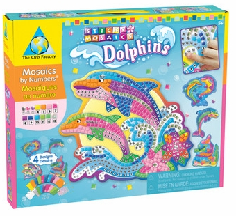 The Orb Factory <br />Sticky Mosaics Dolphins Kit