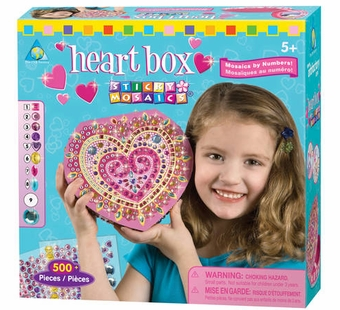 The Orb Factory <br />Sticky Mosaics Heart Box Kit