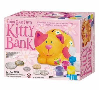 Toysmith <br />Paint Your Own Kitty Bank