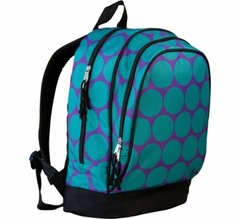 Wildkin <br />Big Dots Aqua Backpack