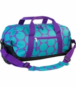 Wildkin <br />Big Dots Aqua Duffel Bag
