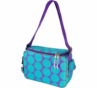 Wildkin <br />Big Dots Aqua Keep it Cooler Lunch Box