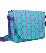Wildkin <br />Big Dots Aqua Laptop Messenger Bag