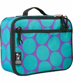Wildkin <br />Big Dots Aqua Lunch Box