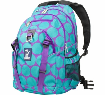Wildkin <br />Big Dots Aqua Serious Backpack