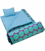 Wildkin <br />Big Dots Aqua Sleeping Bag