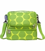 Wildkin <br />Big Dots Green Double Decker Lunch Bag
