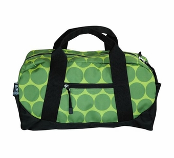 Wildkin <br />Big Dots Green Duffel Bag