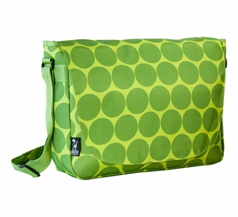 Wildkin <br />Big Dots Green Laptop Messenger Bag