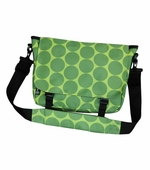 Wildkin <br />Big Dots Green Messenger Bag