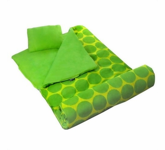 Wildkin <br />Big Dots Green Sleeping Bag