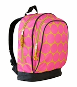 Wildkin <br />Big Dots Hot Pink Backpack