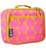 Wildkin <br />Big Dots Hot Pink Lunch Box