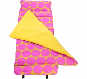 Wildkin <br />Big Dots Hot Pink Nap Mat