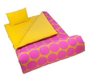 Wildkin <br />Big Dots Hot Pink Sleeping Bag