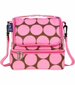 Wildkin <br />Big Dots Pink Double Decker Lunch Bag