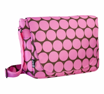 Wildkin <br />Big Dots Pink Laptop Messenger Bag