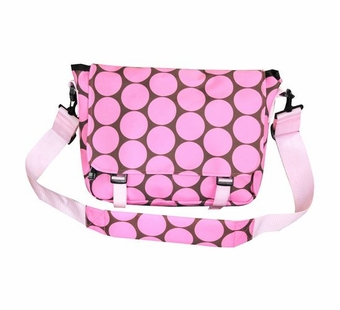 Wildkin <br />Big Dots Pink Messenger Bag