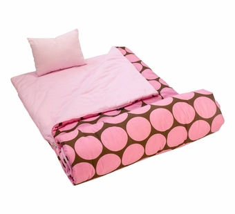 Wildkin <br />Big Dots Pink Sleeping Bag