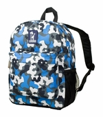 Wildkin <br />Blue Camo Crackerjack Backpack